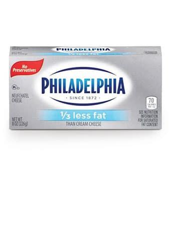 Philadelphia Brick 1/3 Less Fat Plain 8oz